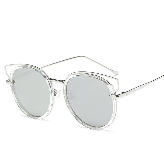WKAIJC Trends Mode Metal Pop Kreativ Bequem Hoch Entwickelt Retro Hautfarbe Geschlecht Sonnenbrillen,C
