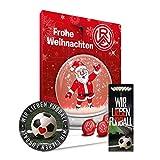 Adventskalender, Weihnachtskalender deines Bundesliga Lieblingsvereins 2018 - Plus gratis Sticker & Lesezeichen Wir Lieben Fußball (Rot Weiss Essen)