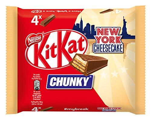 Chunky Schokoriegel (Nestlé Kitkat Chunky New York, Cheesecake Schokoriegel, 1er pack (4 x 42g))