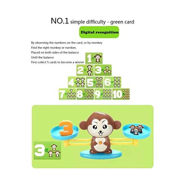 Ahagut Matemática Escalas Juguetes Monos balanza Juguetes Escalas Animales matemática Juguetes educativos Habilidades Juguetes educativos Juguetes para niños 5
