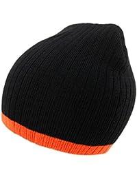 4sold Unisex Adulte unisexe Lady Skullies Bonnets Two Tone Cable Bonnet Fourré Hiver Pour Femme Bonnet Tricoté Avec Torsades en Fourrure Plusieurs Coloris Taille Unique