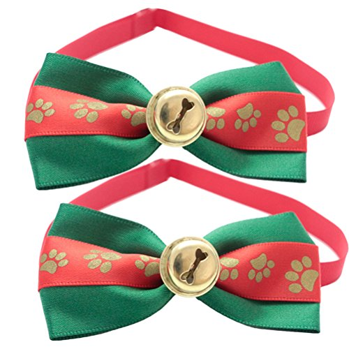 Zhhlinyuan Hund Katzen 2pcs Lovely Small Dog Cat Pets Colorfule Adjustable Soft Bow Ties Necktie Wedding Party Dress Mo Tie