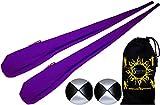 Flames N Games Pro Socken-Poi Set (Lila) Sock Poi (inkl. 2x Beanbags Bälle) + Reisetasche. Swinging Poi und Spinning Pois! Pois für Anfänger und Profis.