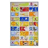 Flair Rugs Teppich Kinder/Kinder ABC Charakter Schlafzimmer Teppich, Nylon, Multi, 100 x 160 cm