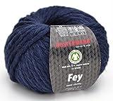 Austermann Wolle Fey Fb. 04 - Blau, Super Chunky Wolle mit 70% Schurwolle und 30% Alpaka