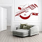 E-Gitarren-Druck-Musical-Notes-Instruments-Wandsticker-Musik-Kunst-Abziehbilder-verfgbar-in-5-Gren-und-25-Farben-Extragro-Schwarz