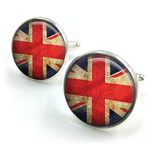 GrauUnion Jack Flag Manschettenknöpfe  Union Jack Manschettenknöpfe  britische Flagge  London Flag  britische Flagge  Retro Manschettenknöpfe  Geschenk für Männer  Geschenk für Freund -