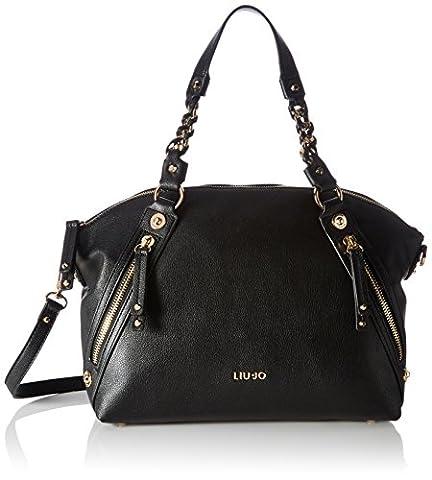 Liu Jo Damen Sei Mia Id Bag Bowling Tasche, Schwarz (Black), 17,5 x 25 x 33 cm