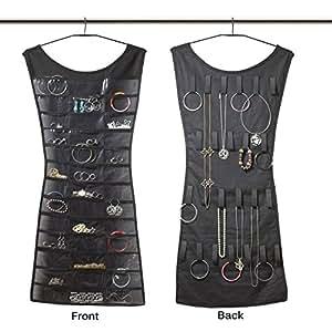 Bulfyss YSDRESSORGAINSER Dress Shaped Fabric Double Sided Jewellery Organizer (84x44cm, Assorted)