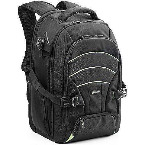 Evecase - mochila grande para cámaras DSLR y portátiles 15.6