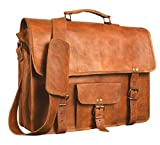 15 inch Vintage Leather Laptop Bag   Rustic Crossbody Cowhide Messenger Pack   Business Briefcase   Handmade Rugged & Distressed Messenger Pack by Artishus