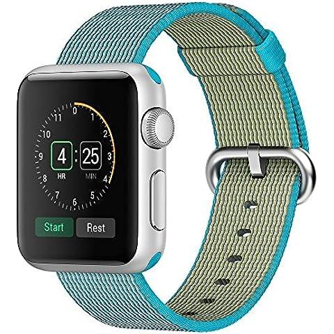 Per Apple Watch Serie 2Serie 1in tessuto di nylon cinturino braccialetto intrecciato confortevole Nylon resistente (Formula 1 Womens Watch)