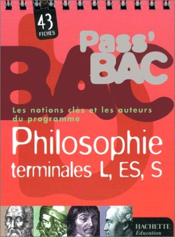 Pass bac philosophie, terminales L, ES, S par M. Garandeau