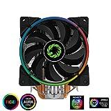 GameMax Gamma 500RGB Dissipatore 5 Heatpipes Ventola Silenziosa RGB 120MM PWM per CPU Intel Amd AM4 Compatibile con ASUS Aura Sync, GIGABYTE RGB Fusion e MSI Mystic Light