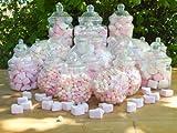 sweets desire - Confezione di 19 barattoli in plastica, dimensioni varie; ogni barattolo viene fornito in dotazione col relativo coperchio