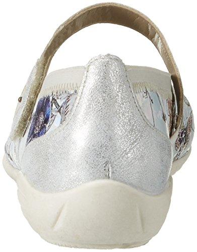 Remonte D4632, Ballerines Femme Multicolore (Offwhite-metallic/ice/argento/90)