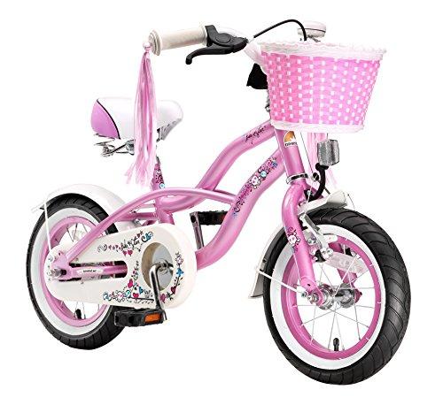 BIKESTAR® Original Premium Design Kinderfahrrad für coole Kids ab 3 Jahren ★ 12er Deluxe Cruiser Edition ★ Glamour Pink