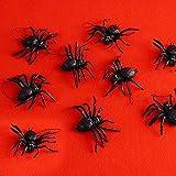 8 ragni appendibili ragnetti finti plastica Halloween