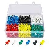 Puntine multicolori, in confezione da 500pezzi, per mappe e bacheche in sughero