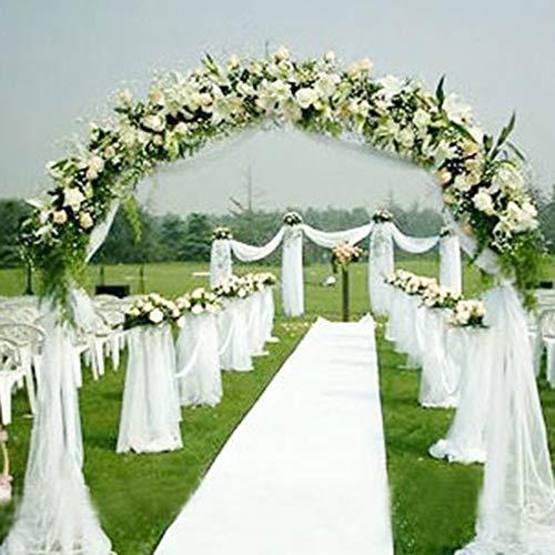 Perno de tul de tela, gasa sólida para la decoración de la boda Decoración para el hogar Sala de...
