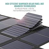 GIARIDE 18V 60W Faltbar Solarladegerät 5V USB/18V DC Sunpower Solar Panel Ladegerät Outdoor Solar Ladegerät für Handys, iPhone, Galaxy, iPad, Laptop, Power Bank, Camping, Wandern