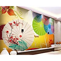 NIdezuiai Mural,Customize 3D Wallpaper Colorful Oil Paper Umbrella Creative Series Hd Print Art Print Wall Painting Poster Picture Large Silk Mural For Living Room Bedroom Home Decor