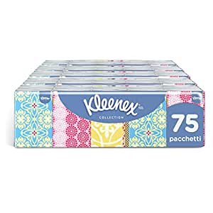 Kleenex Collection of Pocket Tissues [5 Packs of 15 Packets]