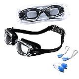 riptide Schwimmbrille in schwarz - Taucherbrille mit Aufbewahrungsbox,...