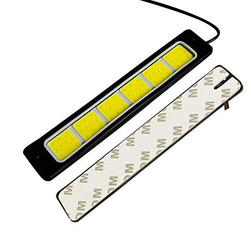 2PCS Slim Chip Cob Lichtleiste, Wasserdicht IP67Aluminium Flexible High Power Flip LED DRL Tageslicht Running Fahren Licht, für Auto Fahrzeug Universal 4Schrauben + 2Aufkleber