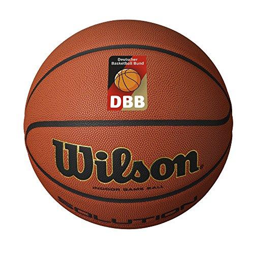 Wilson Indoor-Basketball, Wettkampf, Sportparkett, Größe 7, SOLUTION, Braun, WTB0616XBDBB