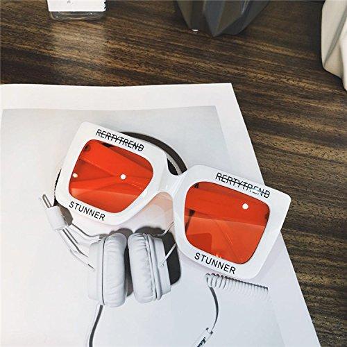 Sunyan Neue Artikel Big Box, vorderes Schutzblech Männer Sonnenbrille die Farbe street hip-hop dunkle Brille schwarz, weiss transparent rot eingerahmten Beat
