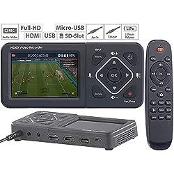 Enregistreur vidéo HDMI/USB/SD Full HD avec écran Couleur Game Capture V4 [Auvisio]