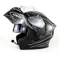 MME Casco de Moto Modular Motocicleta Bluetooth Casco estéreo Calidad de Sonido de la Cubierta Casco