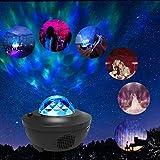 LBell Vidéoprojecteur LED noir avec télécommande en étoile et haut parleur Bluetooth - Parfait pour les fêtes de Noël, de pâques ou d'Halloween