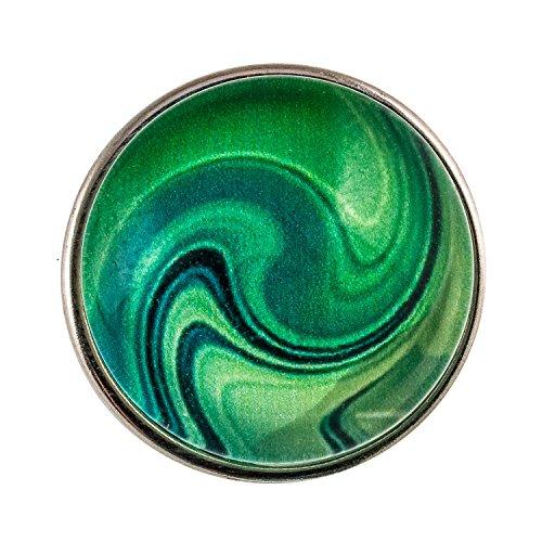 Morella Unisex Click-Button Druckknopf Murmel grün