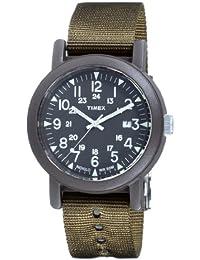 Timex Easy Camper Modern Heritage T2N363 - Reloj de caballero de cuarzo, correa de textil color verde (con luz)