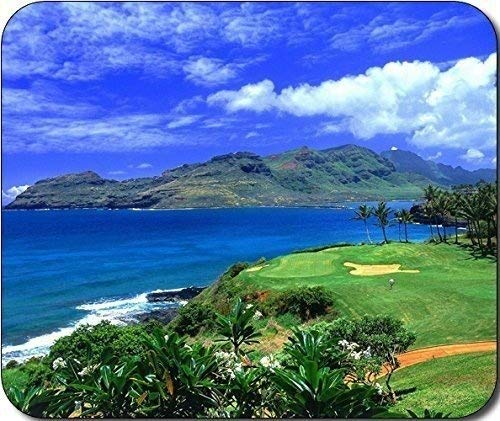Gaming Mousepad, Scenic Hawaii Golf Tropical Große Mousepad Mauspad Große Geschenkidee