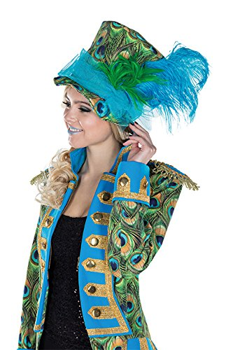 Pfau Hut Accessoires Karneval Zirkusdirektor Halloween