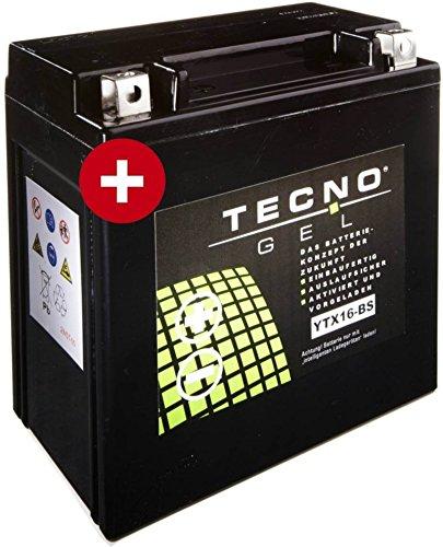 GEL Batterie YTX16-BS Triumph Tiger 800 XC ABS 2011-2017 von TECNO