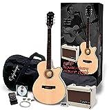Epiphone 240V UE pr-4e acustica elettrica Player Pack