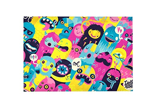 Colorful Monsters Large Area Rugs,Dirty Children's Carpets for Living Roooms,Bedrooms,Children's Doormats 183x122cm/4'x6'