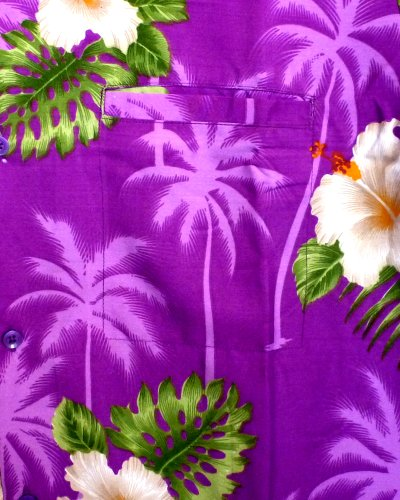 Funky Chemise Hawaiienne XS-12XL Pourpre