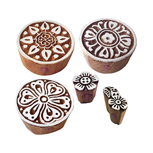 Royal Kraft Städtisch Designs Mischen und Blumen Holz Drucken Stempel (Set von 5)