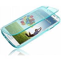 TPU Flip Case translucent blau / hellblau für Samsung Galaxy S4 / GT-I9500 von AQ Mobile