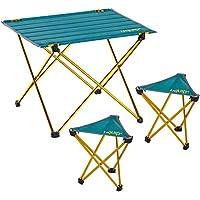 Uquip Whisky, Camping Möbel Set Leichtgewicht 3-TLG. Campinggarnitur, Leichtgewichttisch und 2X Leichtgewichtshocker