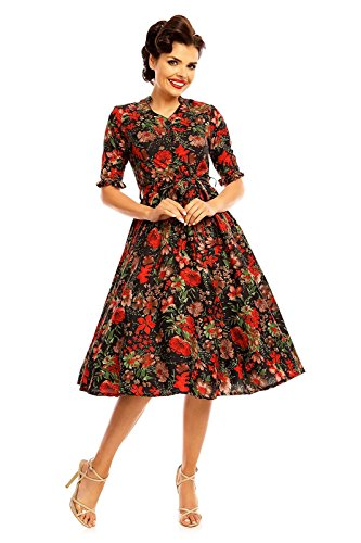 Looking Glam Women's Retro Vintage Inspired 1940's Shirt Dress