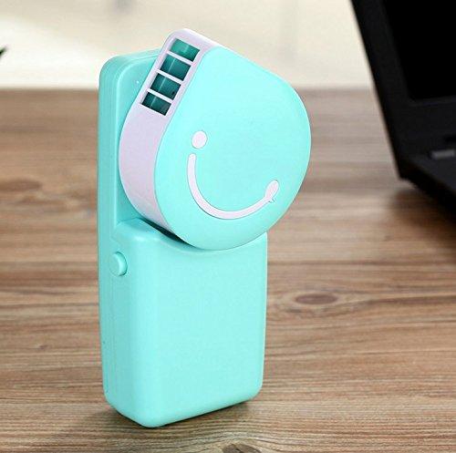 kimberleystore Tragbare Mini kühle Klimaanlage USB aufladbare Außen Reisen Hand Lüfter (blau)