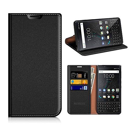 MOBESV Funda Cartera Blackberry Key2, Funda Cuero Movil Blackberry Key2 Carcasa...