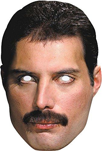 Freddie Mercury Queen Partymaske aus hochwertigem Karton mit Augenlöchern und (Maske Freddie)
