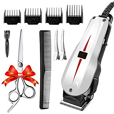 Rantizon Mains Hair Clipper Set Professional Hair Cutting Kit for Men Skin-Friendly Blades Electric Hair Cutting Machine Precision Trimmer Multi Grooming Kit with Attachments Free Gift Scissors etc. from Rantizon